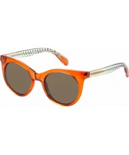 Marc by Marc Jacobs Ladies MMJ 412-S 6HM UT Orange Brown Sunglasses