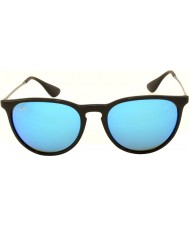 RayBan RB4171 54 Erika Black 601-55 Blue Mirrored Sunglasses