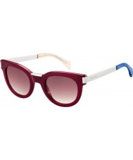 Tommy Hilfiger Ladies TH 1379-S QEI XK Burgundy Palladium Sunglasses