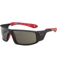 Cebe Ice 8000 Matt Black Red Variochrom Peak Sunglasses