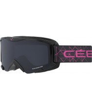 Cebe CBG119 Bionic Black and Pink - Grey Ski Goggles