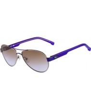 Lacoste Kids L3103S Gunmetal Purple Sunglasses