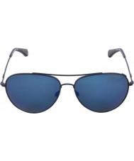 Emporio Armani EA2010 57 Modern Matte Blue Mirror 305696 Sunglasses