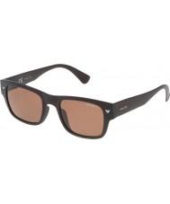 Police Mens Offstage 1 SPL150-Z55P Matt Intermediate Brown Polarized Sunglasses