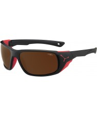 Cebe Jorasses Large Matt Black Red 2000 Brown Flash Mirror Sunglasses