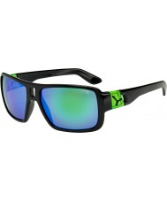 Cebe L.A.M Shiny Black Green Sunglasses