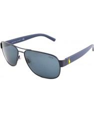 Polo Ralph Lauren PH3089 60 Matte Blue Grey 911987 Sunglasses