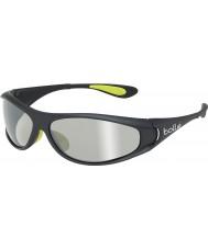 Bolle Spiral Shiny Black Green TNS Gun Sunglasses