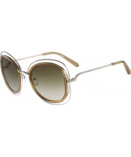 Chloe Ladies CE123S Carlina Shiny Gold Sunglasses