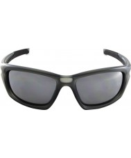 Oakley OO9236-06 Valve Matte Grey Smoke - Black Iridium Polarized Sunglasses