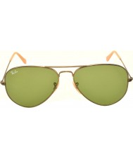 RayBan RB3025 58 Aviator Large Metal Antique Gold 177-4E Sunglasses