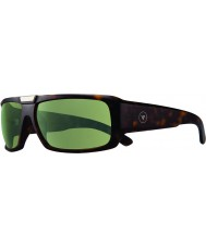 Revo RBV1004 Bono Signature Apollo Matte Tortoiseshell - Green Polarized Sunglasses