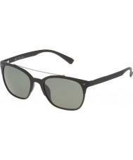 Police Mens Game 5 SPL161-U28P Semi Matt Black Polarized Sunglasses