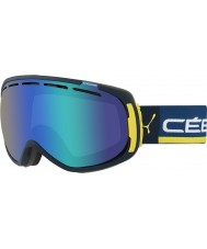 Cebe CBG125 Feel In Blue and Yellow - Brown Flash Blue Ski Goggles