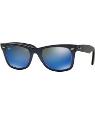 RayBan RB2140 50 Original Wayfarer Top Blue Gradient on Light Blue 120368 Blue Mirror Sunglasses
