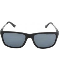 Polo Ralph Lauren PH4088 55 Matte Black Grey 528481 Polarized Sunglasses