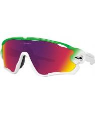 Oakley OO9290-15 Jawbreaker Green Fade White - Prizm Road Sunglasses