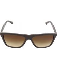 Emporio Armani EA4001 56 Modern Brown Rubber 506413 Sunglasses