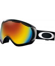Oakley 57-776 Canopy Matte Black - Fire Iridium Ski Goggles