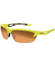 Bolle Bolt Neon Yellow Modulator Amber Sunglasses