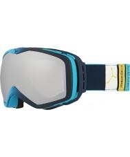 Cebe CBG83 Peak Blue Tones - Dark Rose Silver Mirror Ski Goggles with Spare Yellow Lens