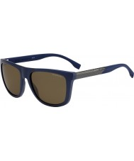 HUGO BOSS Mens BOSS 0834-S HWQ SP Blue Polarized Sunglasses