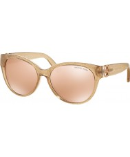 Michael Kors MK6026 57 Tabitha I Taupe Glitter 3097R1 Rose Gold Flash Sunglasses