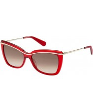 Marc Jacobs Ladies MJ 534-S 8NR Red Gold Sunglasses