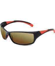 Bolle Speed Shiny Black Red Bolle 100 Gun Sunglasses