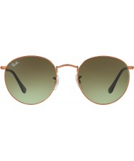 RayBan RB3447 53 Round Metal Shiny Medium Bronze 9002A6 Sunglasses