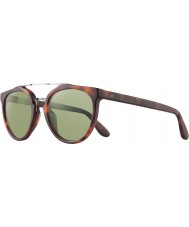Revo RBV1006 Bono Signature Buzz Matte Honey Tortoiseshell - Green Polarized Sunglasses