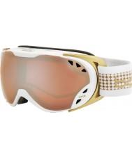 Bolle 21134 Duchess White and Gold - Citrus Gun Ski Goggles
