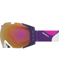 Cebe CBG87 Origins M Pink and Violet - Light Rose Flash Gold Ski Goggles