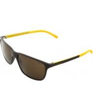 Polo Ralph Lauren PH4092 58 Matte Brown 550773 Sunglasses