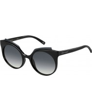 Marc Jacobs Ladies MARC 105-S D28 9O Shiny Black Sunglasses