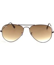 RayBan RB3025 58 Aviator Large Metal Brown 014-51 Sunglasses