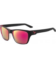 Cebe Hacker Shiny Black 1500 Grey Flash Mirror Pink Sunglasses