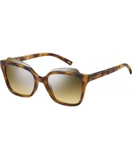 Marc Jacobs Ladies MARC 106-S N36 GG Havana Silver Mirror Sunglasses