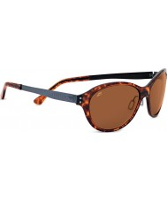 Serengeti Giustina Shiny Dark Tortoiseshell Polarized PhD Drivers Sunglasses