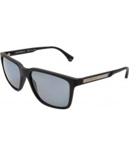 Emporio Armani EA4047 56 Modern Black Rubber 506381 Polarized Sunglasses