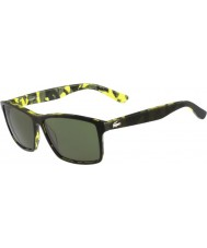 Lacoste Mens L705S Green Camouflage Sunglasses