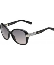 Jimmy Choo Ladies Alana-S D28 EU Shiny Black Sunglasses