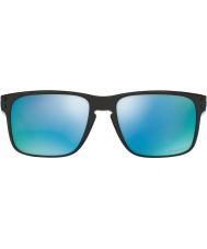 Oakley OO9102-C1 Holbrook Polished Black - Prizm Deep H2O Polarized Sunglasses