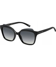Marc Jacobs Ladies MARC 106-S D28 9O Shiny Black Sunglasses