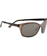 Serengeti Sara Satin Dark Brown Polarized PhD CPG Sunglasses