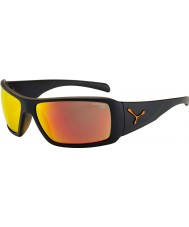 Cebe Utopy Matt Black Orange Sunglasses