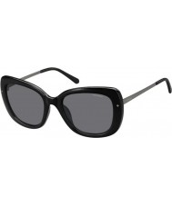 Polaroid Ladies PLD4044-S CVS Y2 Black Ruthenium Polarized Sunglasses