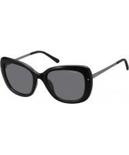 b81300a33e Polaroid Ladies PLD4044-S CVS Y2 Black Ruthenium Polarized Sunglasses