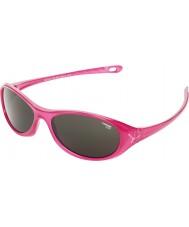 Cebe Gecko (Age 5-7) Shiny Pink Translucid 2000 Grey Sunglasses