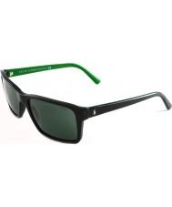 Polo Ralph Lauren PH4076 57 Shiny Black Green 526171 Sunglasses